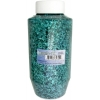Glitter Flakes Vials Large Jar Teal with sifter Top